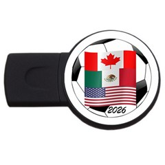 United Football Championship Hosting 2026 Soccer Ball Logo Canada Mexico Usa Usb Flash Drive Round (2 Gb) by yoursparklingshop