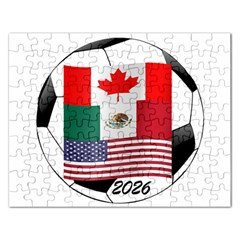 United Football Championship Hosting 2026 Soccer Ball Logo Canada Mexico Usa Rectangular Jigsaw Puzzl by yoursparklingshop