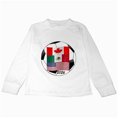 United Football Championship Hosting 2026 Soccer Ball Logo Canada Mexico Usa Kids Long Sleeve T-shirts by yoursparklingshop