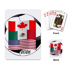 United Football Championship Hosting 2026 Soccer Ball Logo Canada Mexico Usa Playing Card by yoursparklingshop