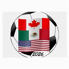 United Football Championship Hosting 2026 Soccer Ball Logo Canada Mexico Usa Large Glasses Cloth (2 Side) by yoursparklingshop