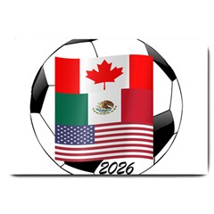 United Football Championship Hosting 2026 Soccer Ball Logo Canada Mexico Usa Large Doormat  by yoursparklingshop