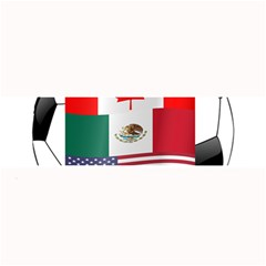 United Football Championship Hosting 2026 Soccer Ball Logo Canada Mexico Usa Large Bar Mats by yoursparklingshop