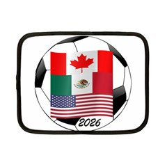 United Football Championship Hosting 2026 Soccer Ball Logo Canada Mexico Usa Netbook Case (small)  by yoursparklingshop