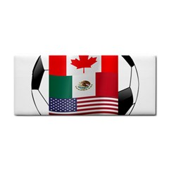 United Football Championship Hosting 2026 Soccer Ball Logo Canada Mexico Usa Hand Towel by yoursparklingshop