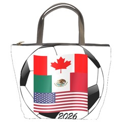 United Football Championship Hosting 2026 Soccer Ball Logo Canada Mexico Usa Bucket Bags by yoursparklingshop