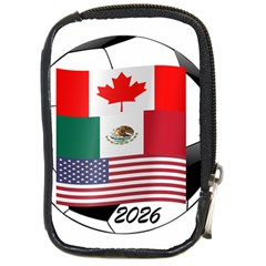 United Football Championship Hosting 2026 Soccer Ball Logo Canada Mexico Usa Compact Camera Cases by yoursparklingshop