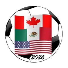 United Football Championship Hosting 2026 Soccer Ball Logo Canada Mexico Usa Magic Photo Cube by yoursparklingshop