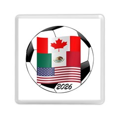 United Football Championship Hosting 2026 Soccer Ball Logo Canada Mexico Usa Memory Card Reader (square) by yoursparklingshop
