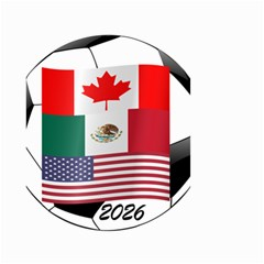 United Football Championship Hosting 2026 Soccer Ball Logo Canada Mexico Usa Small Garden Flag (two Sides) by yoursparklingshop