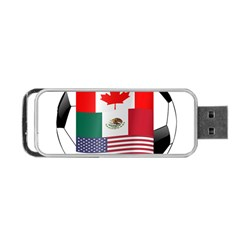 United Football Championship Hosting 2026 Soccer Ball Logo Canada Mexico Usa Portable Usb Flash (two Sides) by yoursparklingshop