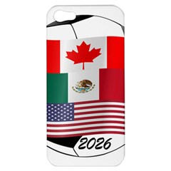 United Football Championship Hosting 2026 Soccer Ball Logo Canada Mexico Usa Apple Iphone 5 Hardshell Case by yoursparklingshop