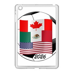 United Football Championship Hosting 2026 Soccer Ball Logo Canada Mexico Usa Apple Ipad Mini Case (white) by yoursparklingshop