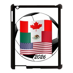 United Football Championship Hosting 2026 Soccer Ball Logo Canada Mexico Usa Apple Ipad 3/4 Case (black) by yoursparklingshop