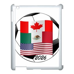 United Football Championship Hosting 2026 Soccer Ball Logo Canada Mexico Usa Apple Ipad 3/4 Case (white) by yoursparklingshop