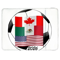 United Football Championship Hosting 2026 Soccer Ball Logo Canada Mexico Usa Samsung Galaxy Tab 7  P1000 Flip Case by yoursparklingshop