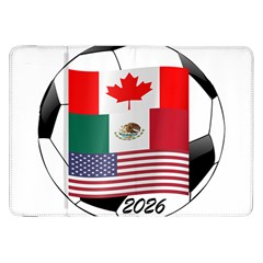 United Football Championship Hosting 2026 Soccer Ball Logo Canada Mexico Usa Samsung Galaxy Tab 8 9  P7300 Flip Case by yoursparklingshop