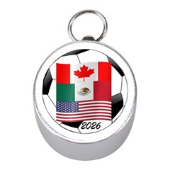 United Football Championship Hosting 2026 Soccer Ball Logo Canada Mexico Usa Mini Silver Compasses by yoursparklingshop