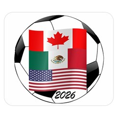 United Football Championship Hosting 2026 Soccer Ball Logo Canada Mexico Usa Double Sided Flano Blanket (small)  by yoursparklingshop