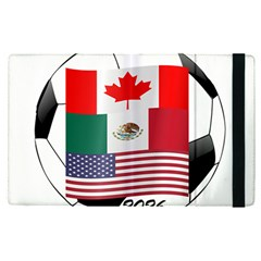 United Football Championship Hosting 2026 Soccer Ball Logo Canada Mexico Usa Apple Ipad Pro 12 9   Flip Case by yoursparklingshop
