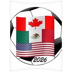 United Football Championship Hosting 2026 Soccer Ball Logo Canada Mexico Usa Back Support Cushion by yoursparklingshop