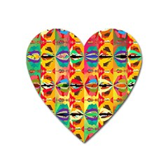 Colorful Shapes                                          Magnet (heart) by LalyLauraFLM