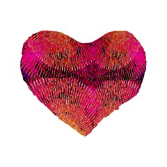 New Wild Color Blast Purple And Pink Explosion Created By Flipstylez Designs Standard 16  Premium Flano Heart Shape Cushions