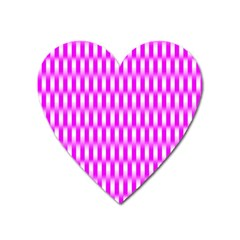 Series In Pink A Heart Magnet by MoreColorsinLife