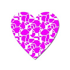 Series In Pink B Heart Magnet by MoreColorsinLife