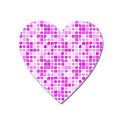 Series In Pink C Heart Magnet by MoreColorsinLife