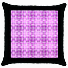 Series In Pink D Throw Pillow Case (black) by MoreColorsinLife