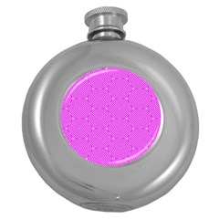 Series In Pink E Round Hip Flask (5 Oz) by MoreColorsinLife