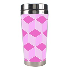 Series In Pink F Stainless Steel Travel Tumblers by MoreColorsinLife