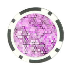Series In Pink G Poker Chip Card Guard (10 Pack) by MoreColorsinLife