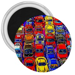 Colorful Toy Racing Cars 3  Magnets by FunnyCow