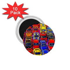 Colorful Toy Racing Cars 1 75  Magnets (10 Pack)  by FunnyCow