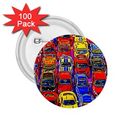 Colorful Toy Racing Cars 2 25  Buttons (100 Pack)  by FunnyCow