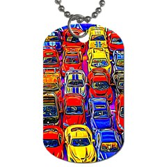 Colorful Toy Racing Cars Dog Tag (two Sides) by FunnyCow