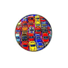 Colorful Toy Racing Cars Hat Clip Ball Marker by FunnyCow