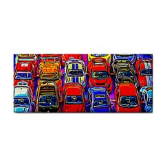 Colorful Toy Racing Cars Hand Towel by FunnyCow