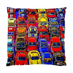 Colorful Toy Racing Cars Standard Cushion Case (one Side) by FunnyCow