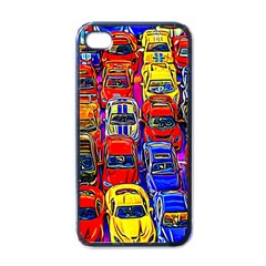 Colorful Toy Racing Cars Apple Iphone 4 Case (black) by FunnyCow