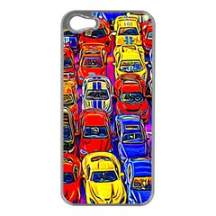 Colorful Toy Racing Cars Apple Iphone 5 Case (silver) by FunnyCow