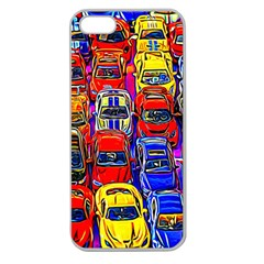 Colorful Toy Racing Cars Apple Seamless Iphone 5 Case (clear) by FunnyCow