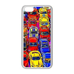 Colorful Toy Racing Cars Apple Iphone 5c Seamless Case (white) by FunnyCow
