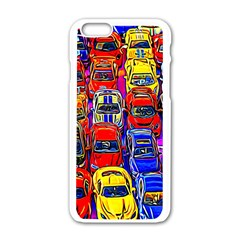 Colorful Toy Racing Cars Apple Iphone 6/6s White Enamel Case by FunnyCow