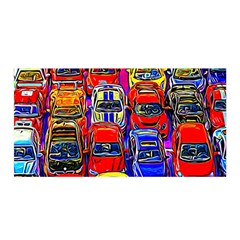 Colorful Toy Racing Cars Satin Wrap by FunnyCow