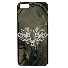Wonderful Decorative Dragon On Vintage Background Apple Iphone 5 Hardshell Case With Stand by FantasyWorld7