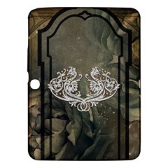 Wonderful Decorative Dragon On Vintage Background Samsung Galaxy Tab 3 (10 1 ) P5200 Hardshell Case  by FantasyWorld7