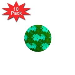 Palm Trees Island Jungle 1  Mini Magnet (10 Pack)  by CrypticFragmentsColors